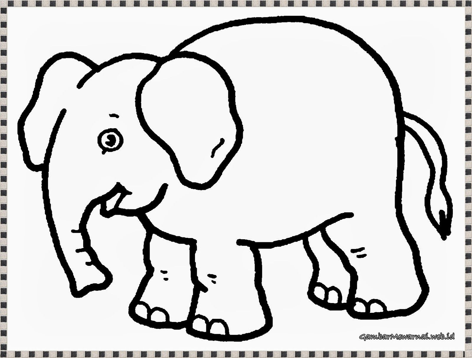 Mewarnai Gambar Gajah Dengan Gambar Gajah Buku Mewarnai Cara