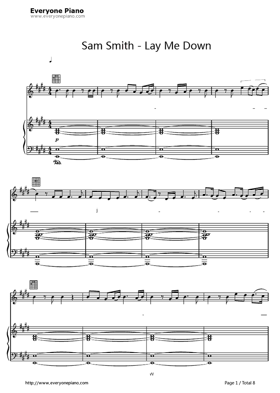 Free Lay Me Down Sam Smith Sheet Music Preview 1 Music Pinterest