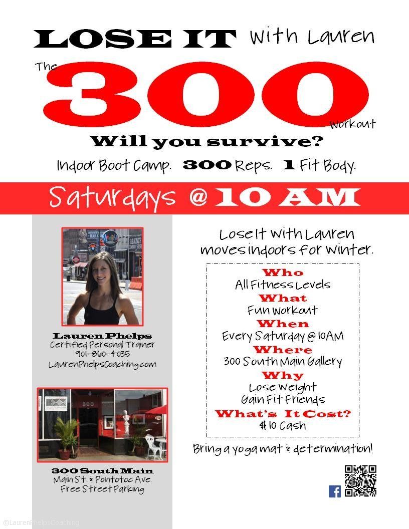 Fitness Can Be Fun {Lose It with Lauren: The 300 Workout} #300workout