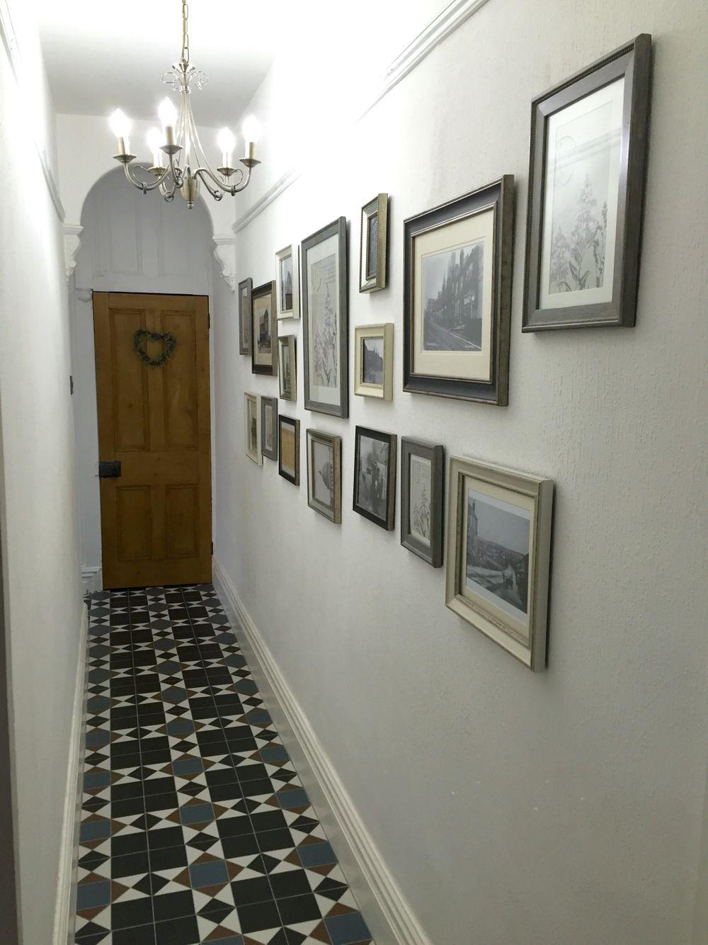 Edwardian Hallway Gallery Topps Tiles Grosvenor Black Blue Tile By Danielle
