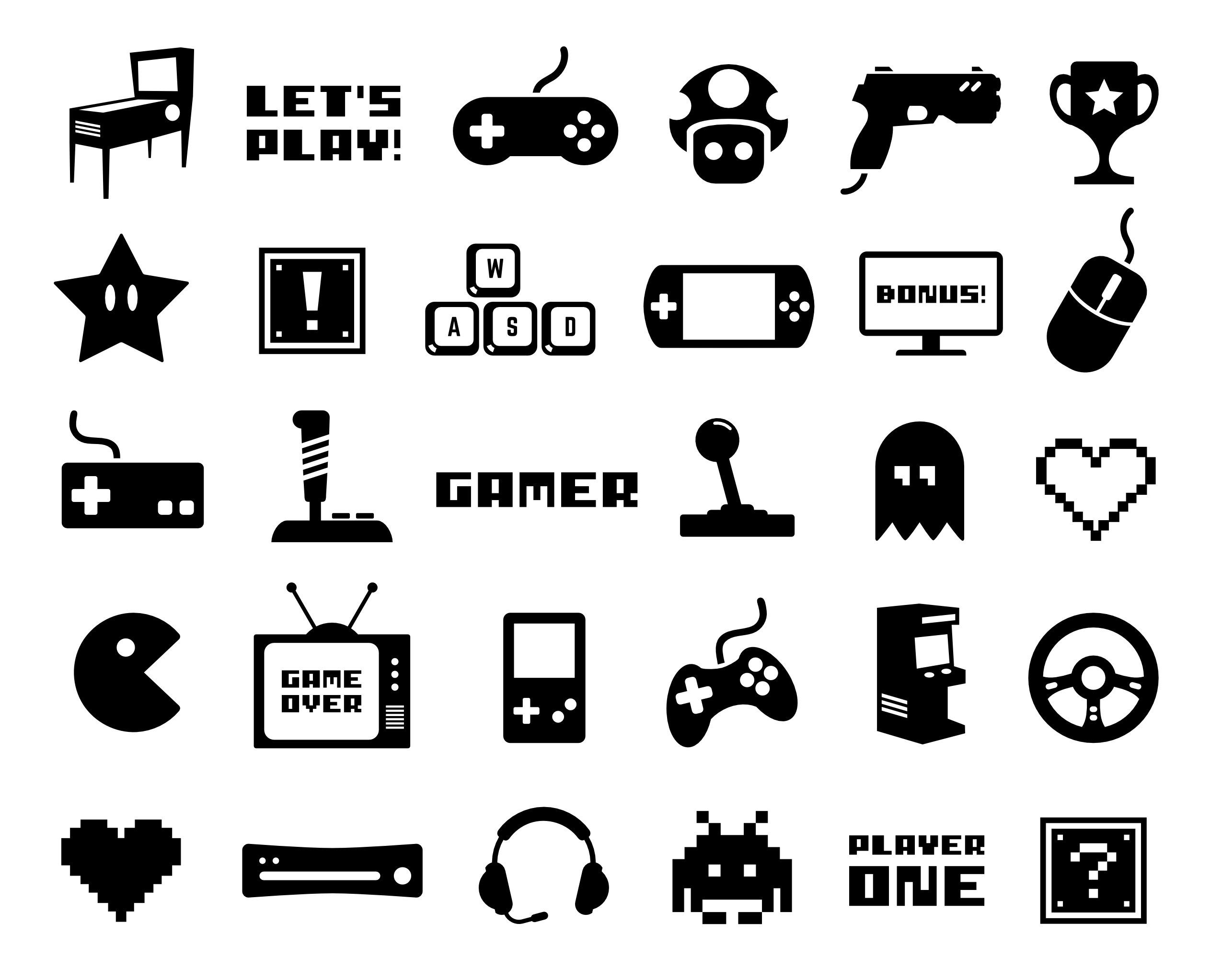 Gaming Clip Art Video Game Vector Art Gamer Silhouette