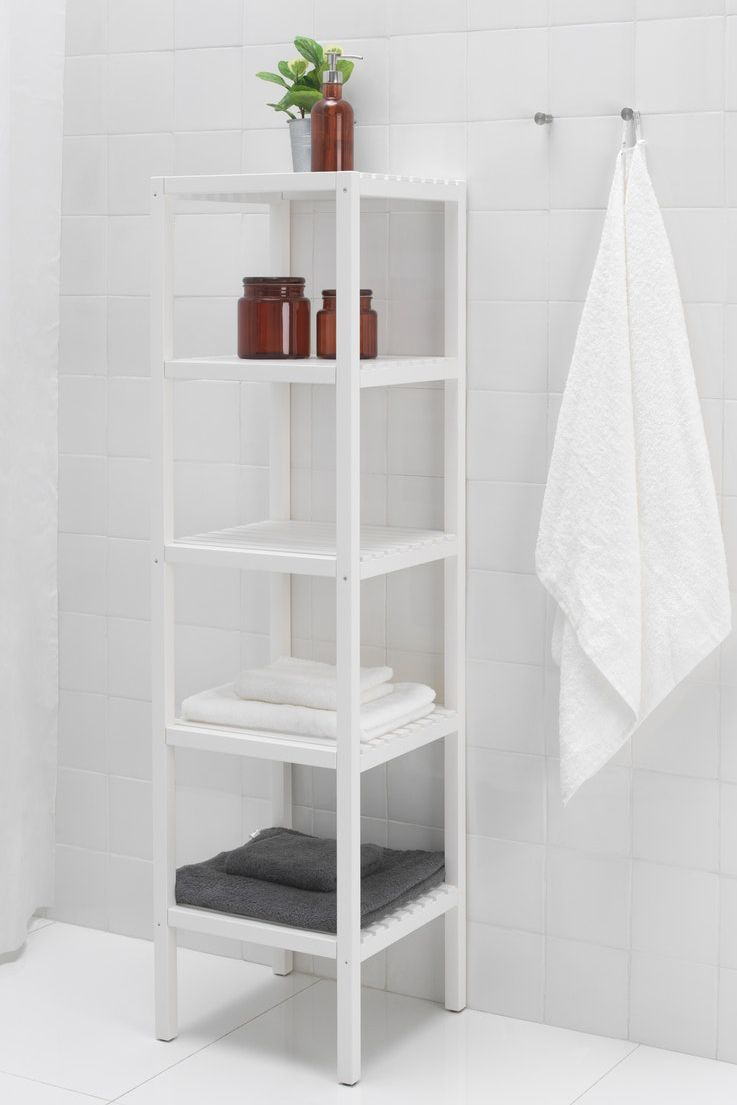 Godmorgon Bovenkast Met 1 Deur Hoogglans Wit 40x14x96 Cm Armarios De Parede Para Banheiro Armario De Parede Banheiro Ikea