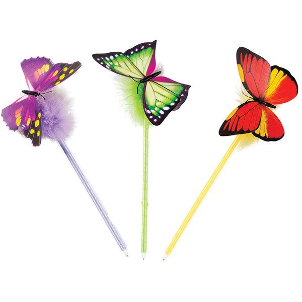 a602b06a5bbbd GEDDES Butterfly Spring Pen ( 30) ❤ liked on Polyvore featuring home