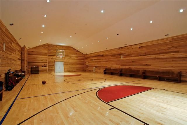 Mls 1392103yes a full size basketball court on the for Built in basketball court