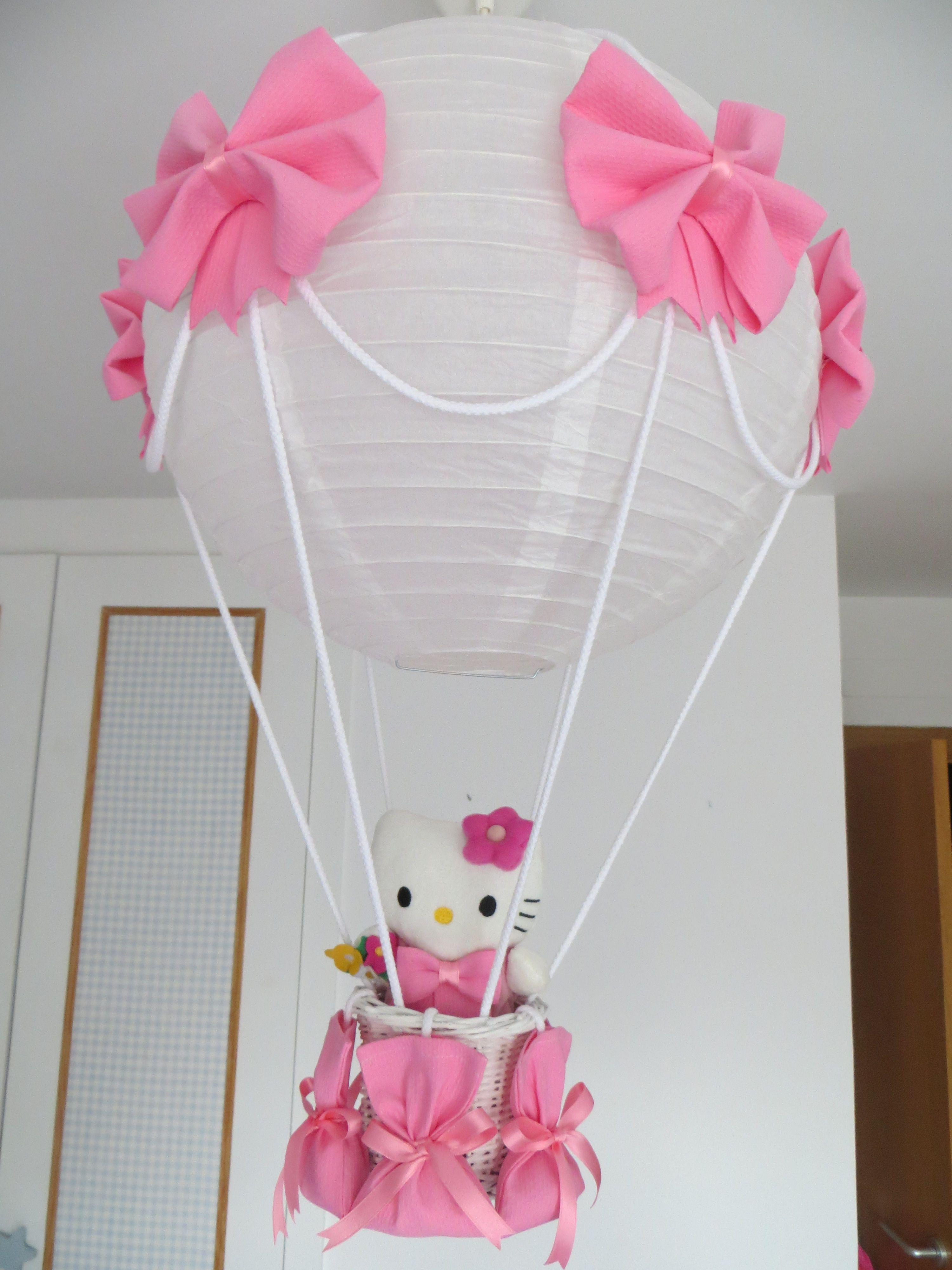 Lampara globo hello kitty para decorar la habitaci n de tu for Modelos de lamparas