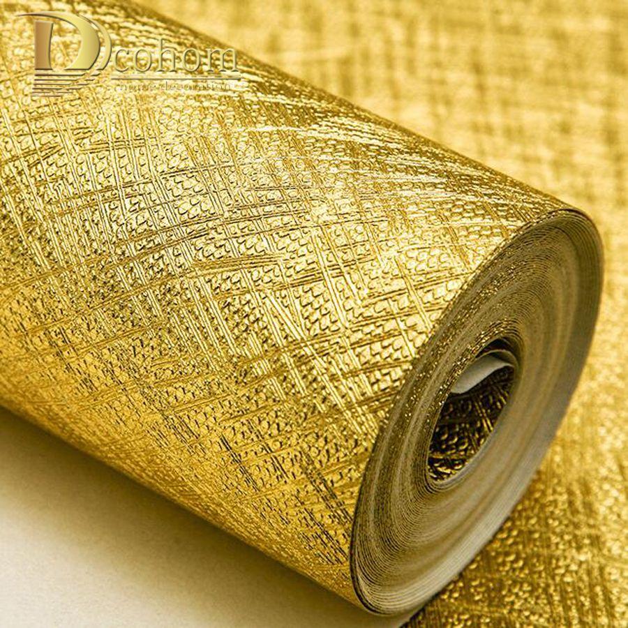 Luxury Golden Silver Gold Foil Wallpaper For Walls Waterproof Modern ...