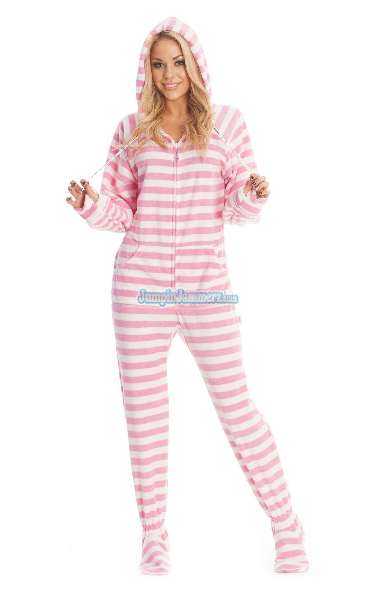 bfe74dd4b Purchase Pink Cotton Stripes Adult Onesie Online