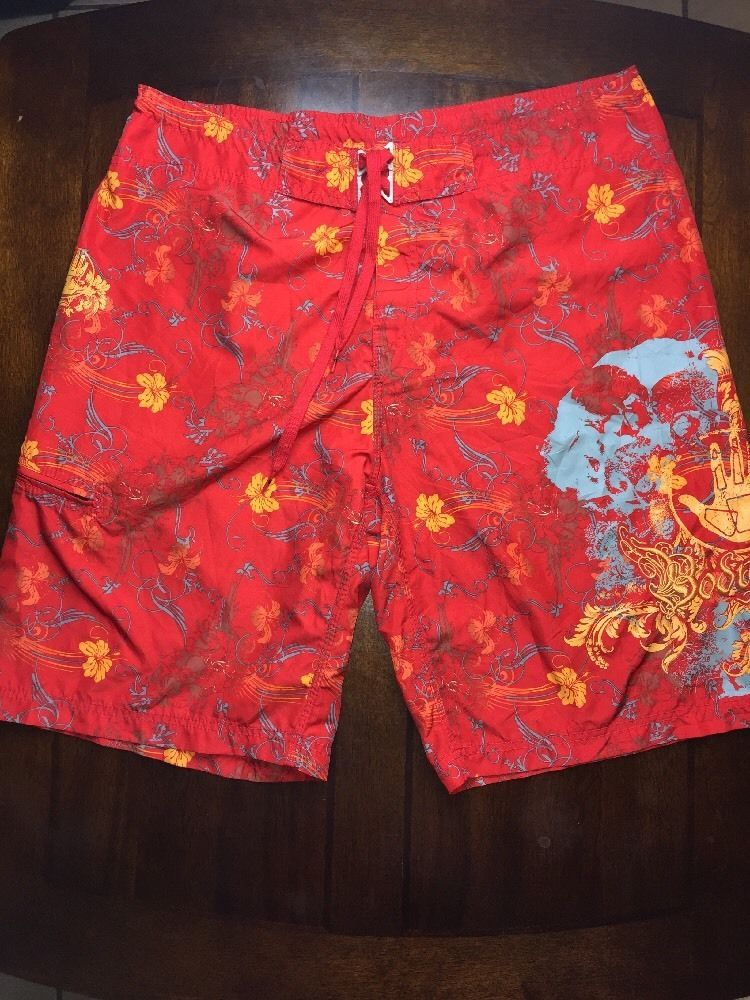 1448dc58c5 Body Glove Men's Board Shorts 36 Swim Trunks Suit Red Multicolor Floral  Print #BodyGlove #BoardShorts