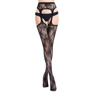 bbc0ef2ce0f Women Sexy Lingerie Stripe Elastic Stockings Transparent Black Fishnet  Stocking Thigh Sheer Tights Embroidery Pantyhose W50-62  Pantyhose  Woman   Stocking ...