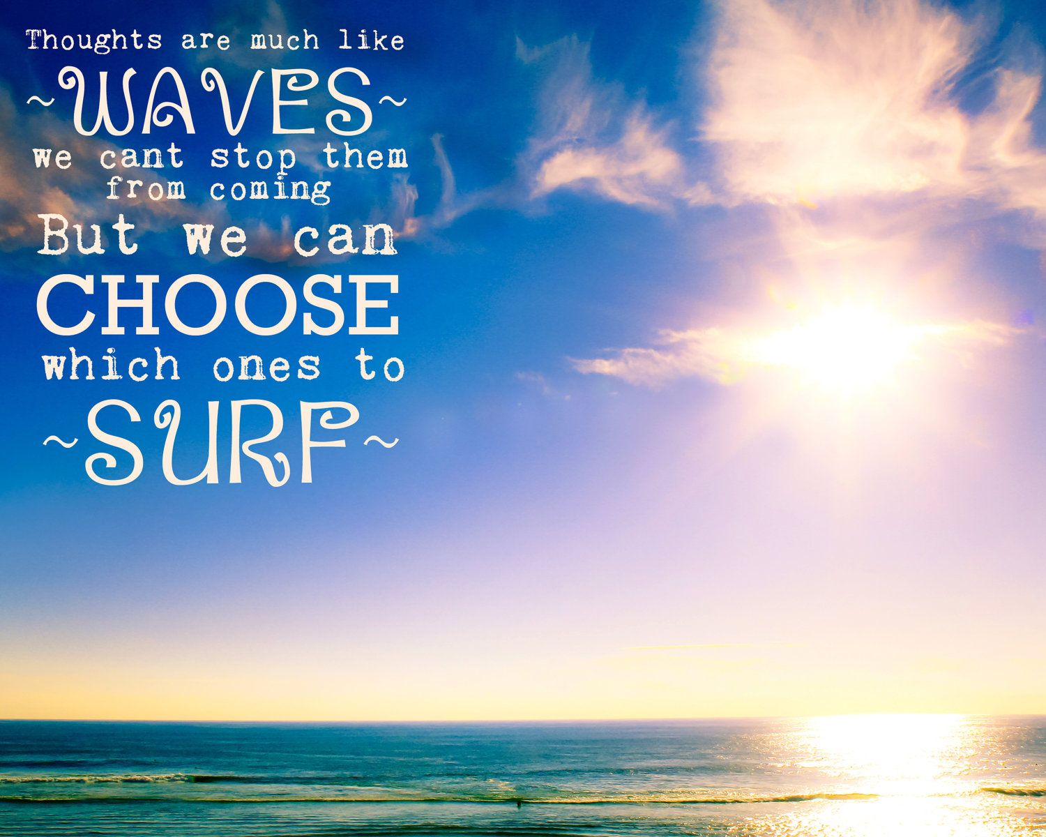 Hawaiian Quotes About Strength: Inspirational Quote, Photo, 8x10, Gratitude, Sea, Sky