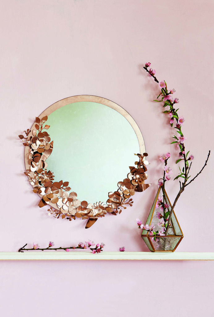 Homeology Home Decor And Design Blog South Africa Diy Floral Mirror Floral Mirror Frame