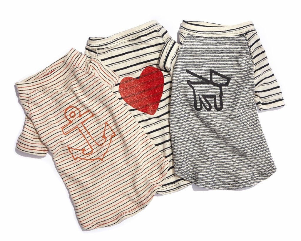 Graphic Nautical T - Heart The perfect T for any dog that loves the beach. (read: every dog ever) in comfy machine washable cotton/hemp, so it's built for outd