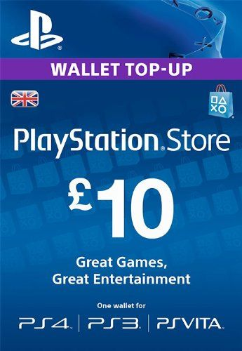 Psn Card 10 Gbp Wallet Top Up Playstation Free Gift Cards