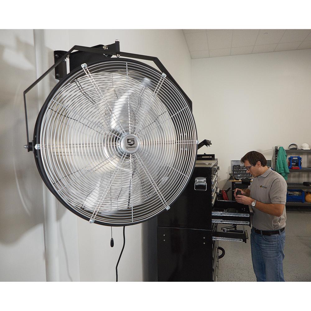 Strongway Garage Bay Fan 24in Dia 1 6 Hp 8 635 Cfm Fan