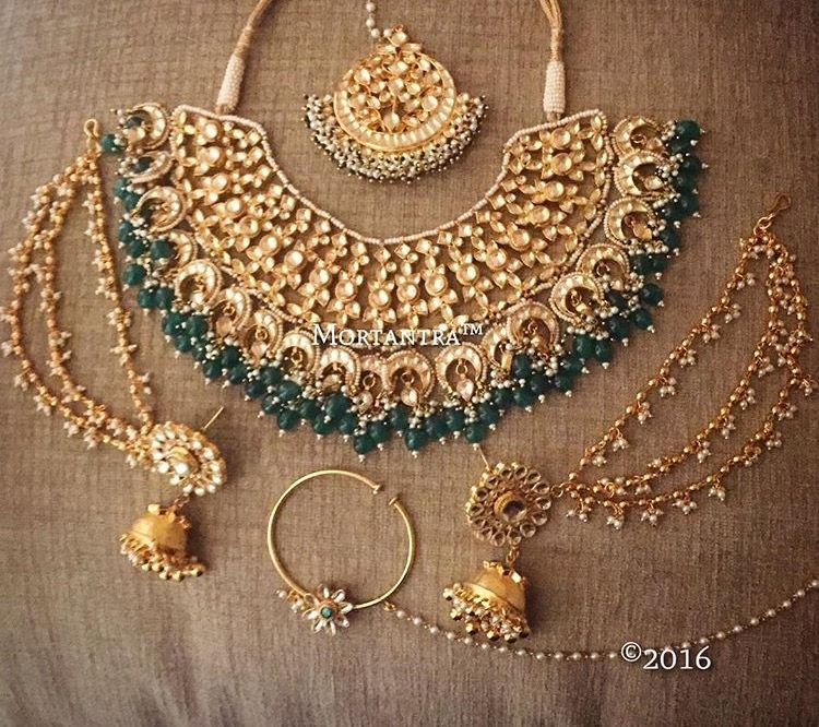 Kundan Sets Gives You A Wide Range Of Jewelry Here Will Get Stunning Designs Bridal Earrings And Necklace