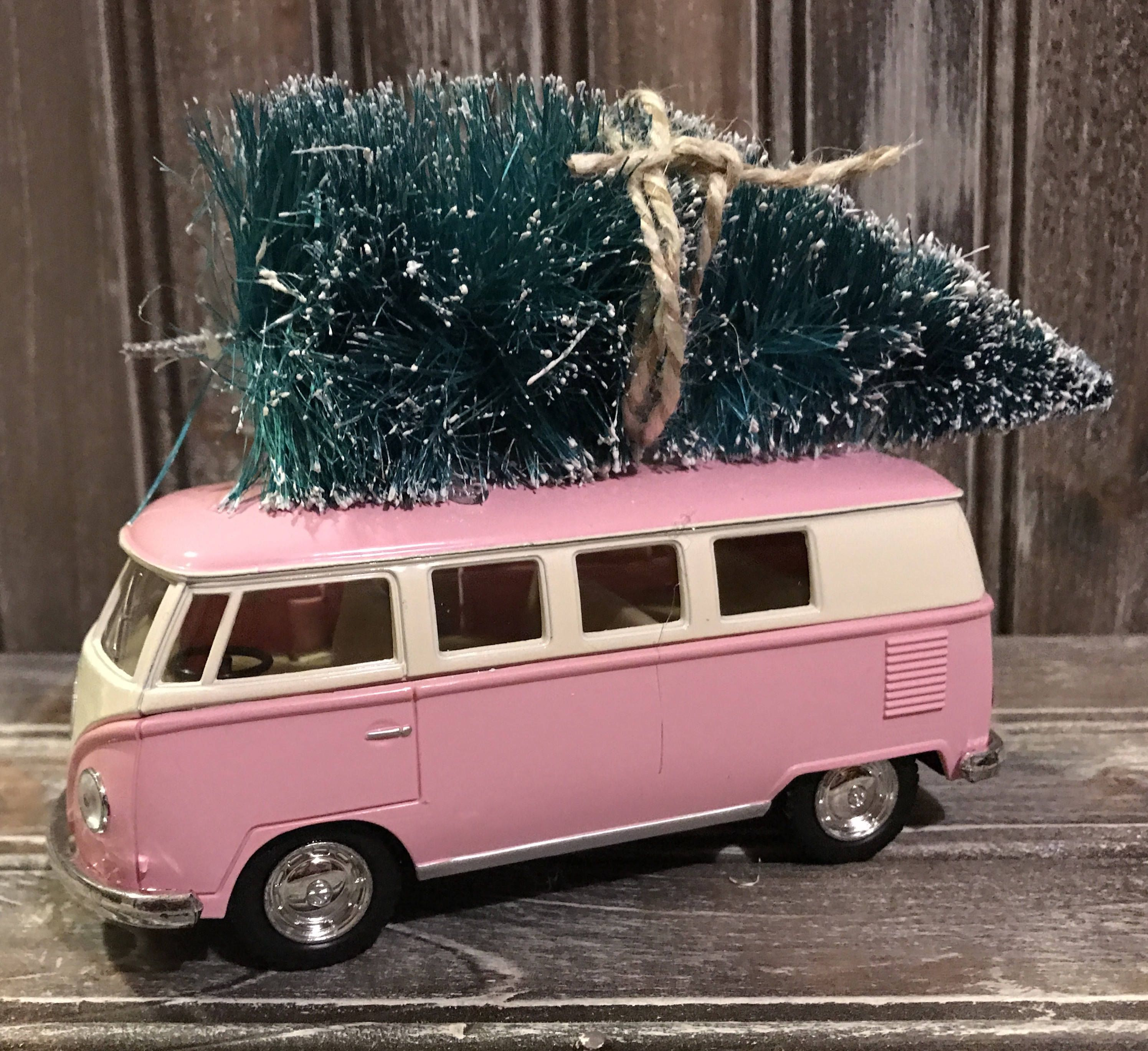 Cast Vw Camper With Christmas Tree Bus Decor