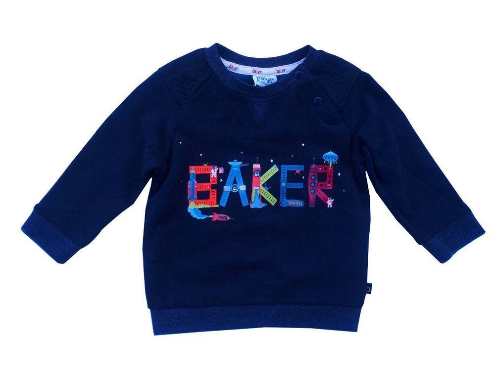 d7552f5ffbd6da ... Ted Baker Baby Boys Sweatshirt Jumper Blue Designer 3+ Months better  321a1 5ae04 ...