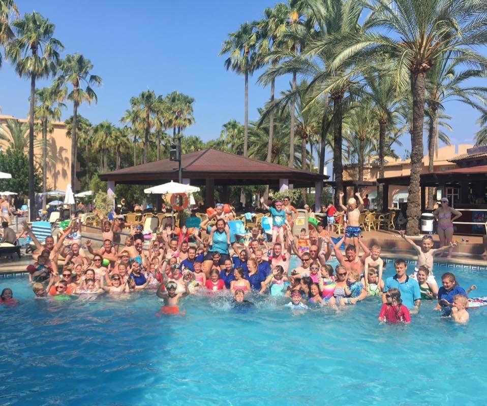 Pool Party At Hotel Bonaire Cala Bona Majorca Spain