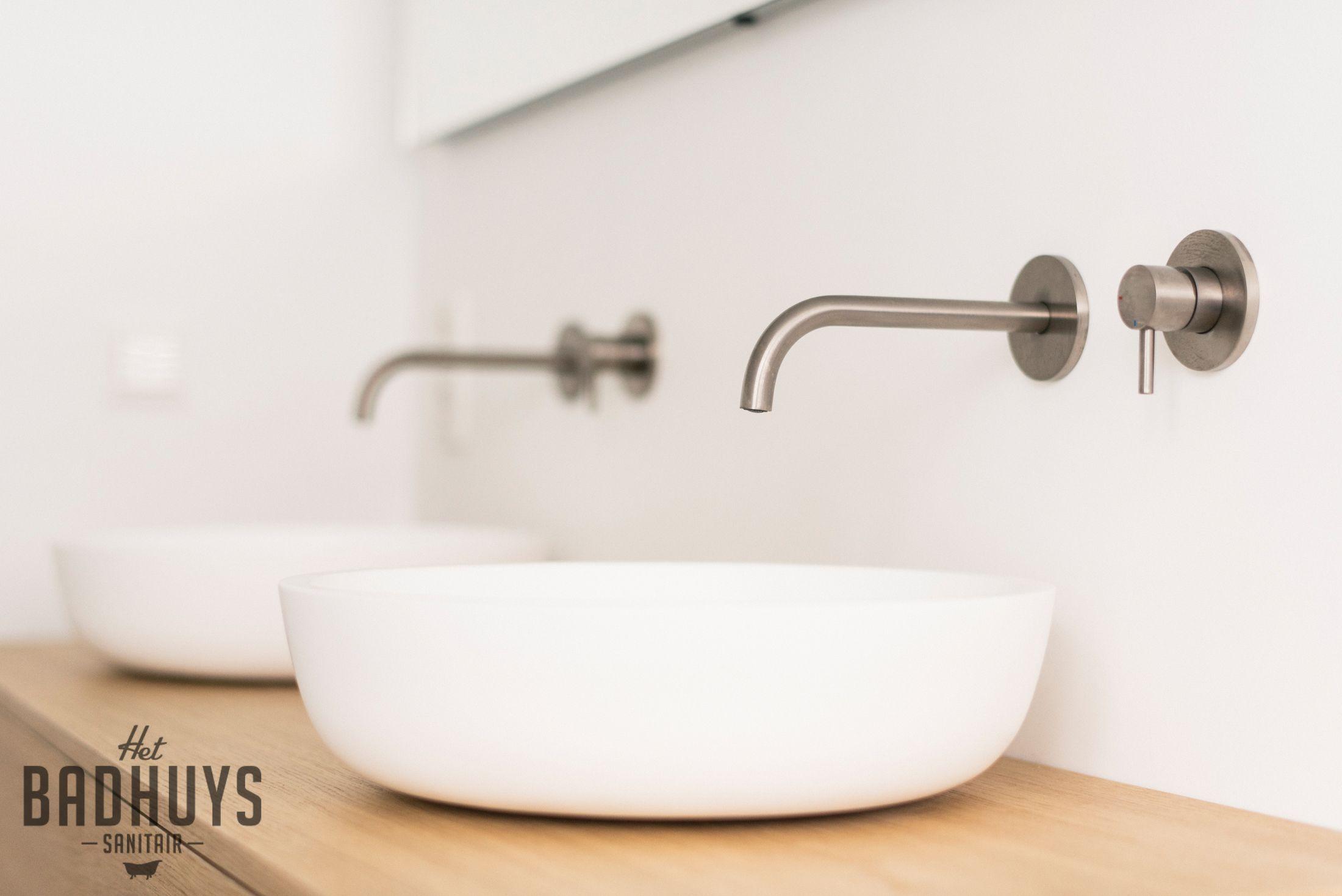 Inloopdouche Met Wastafelkast : Moderne badkamer met inloopdouche en wastafel op maat het badhuys