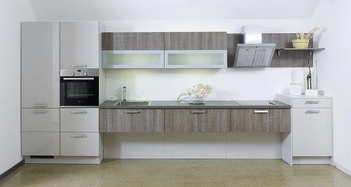 Bauformat Modern Grey Distressed Wood Wall Mounted Kitchen