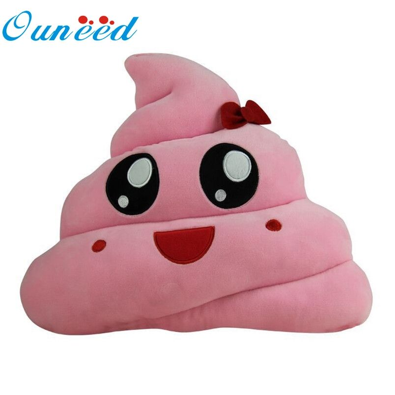 Ouneed Emoji pillow 1PC home Poop Soft Smiley Emotion Cushion Stuffed Plush  Toy Doll Gift For ac67c142c