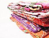 Queen Quilts,Set of 4 Beautiful handmade Kantha Queen Quilt