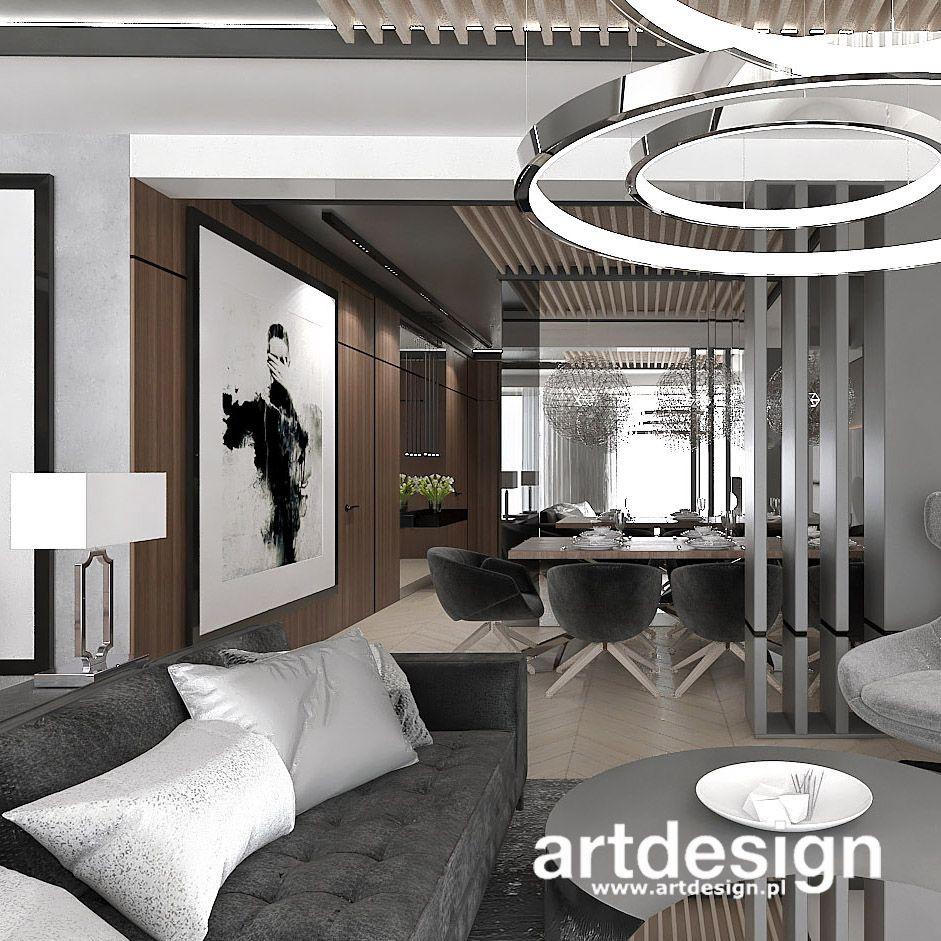 W Projekcie Wnetrza Tego Apartamentu Jadalnia Znajduje Sie W Centrum