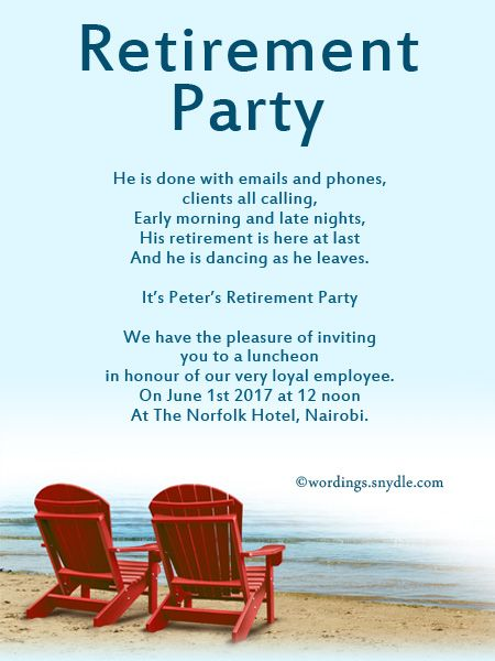 Retirement party invitation wording ideas and samples wordings and retirement party invitation wording ideas and samples wordings and stopboris Image collections