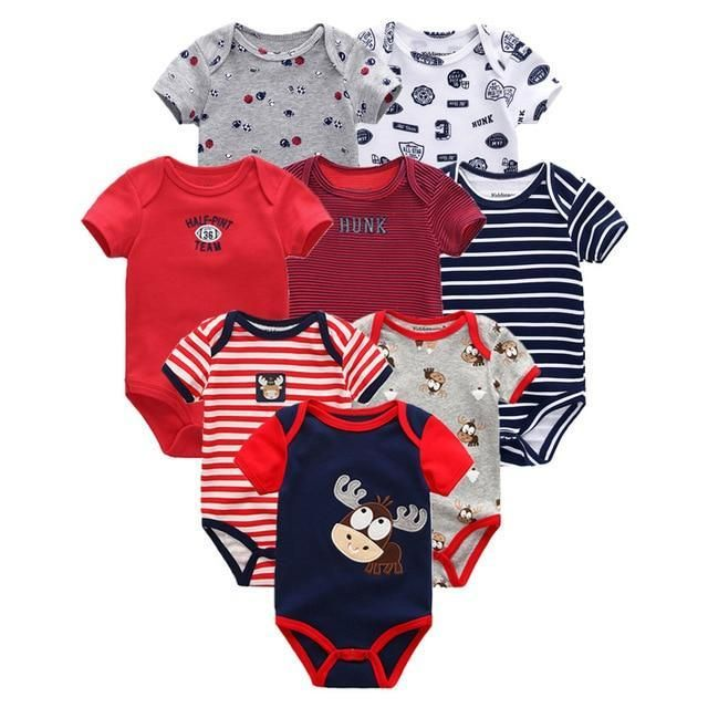 5779ce420c47 Baby Rompers 8pcs Short Sleeve overalls new born baby boy clothes ...