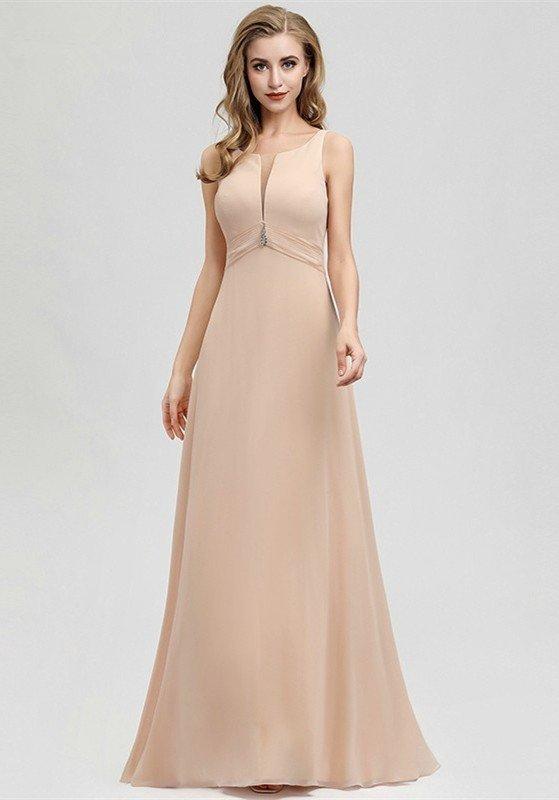 Photo of Elegant Blush Crytal Long Mermaid Prom Dress