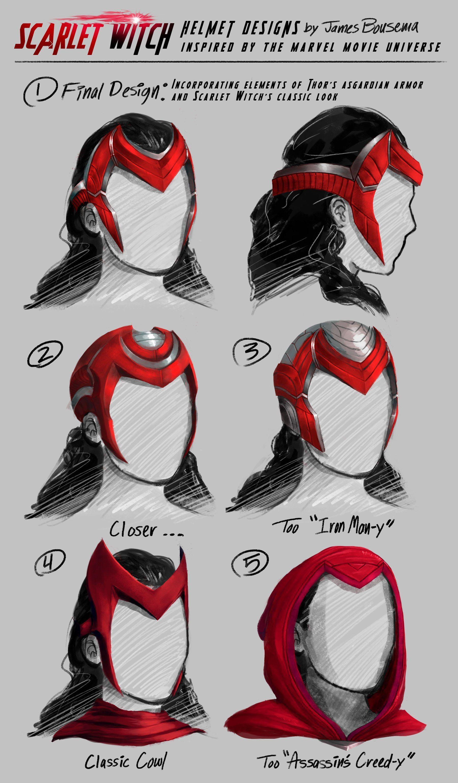 Scarlet Witch Concept Art / Alternate Costume Design | Scarlet ...