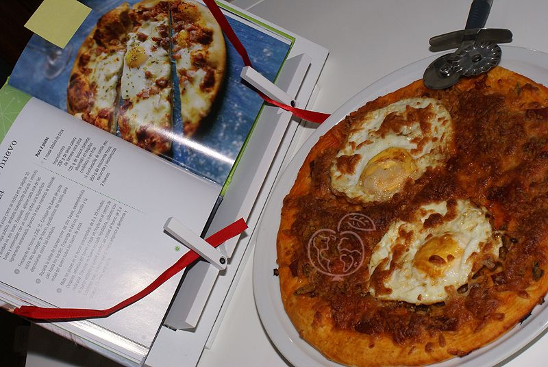 Pizza de Beicon, Huevo y mozzarella