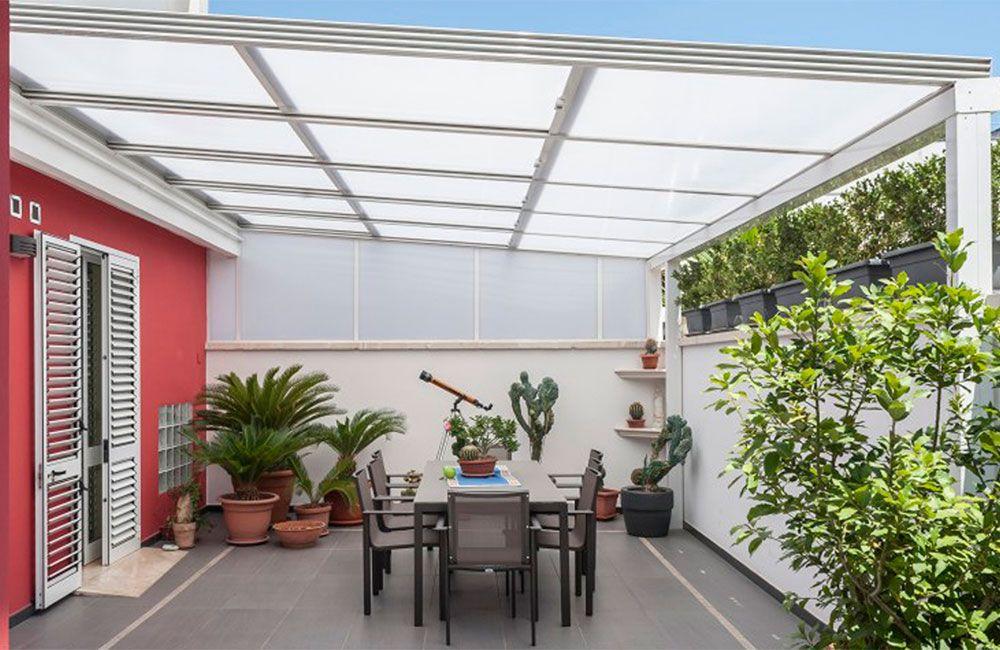 Resultado de imagen para techos de policarbonato jardin for Modelos techos para garage