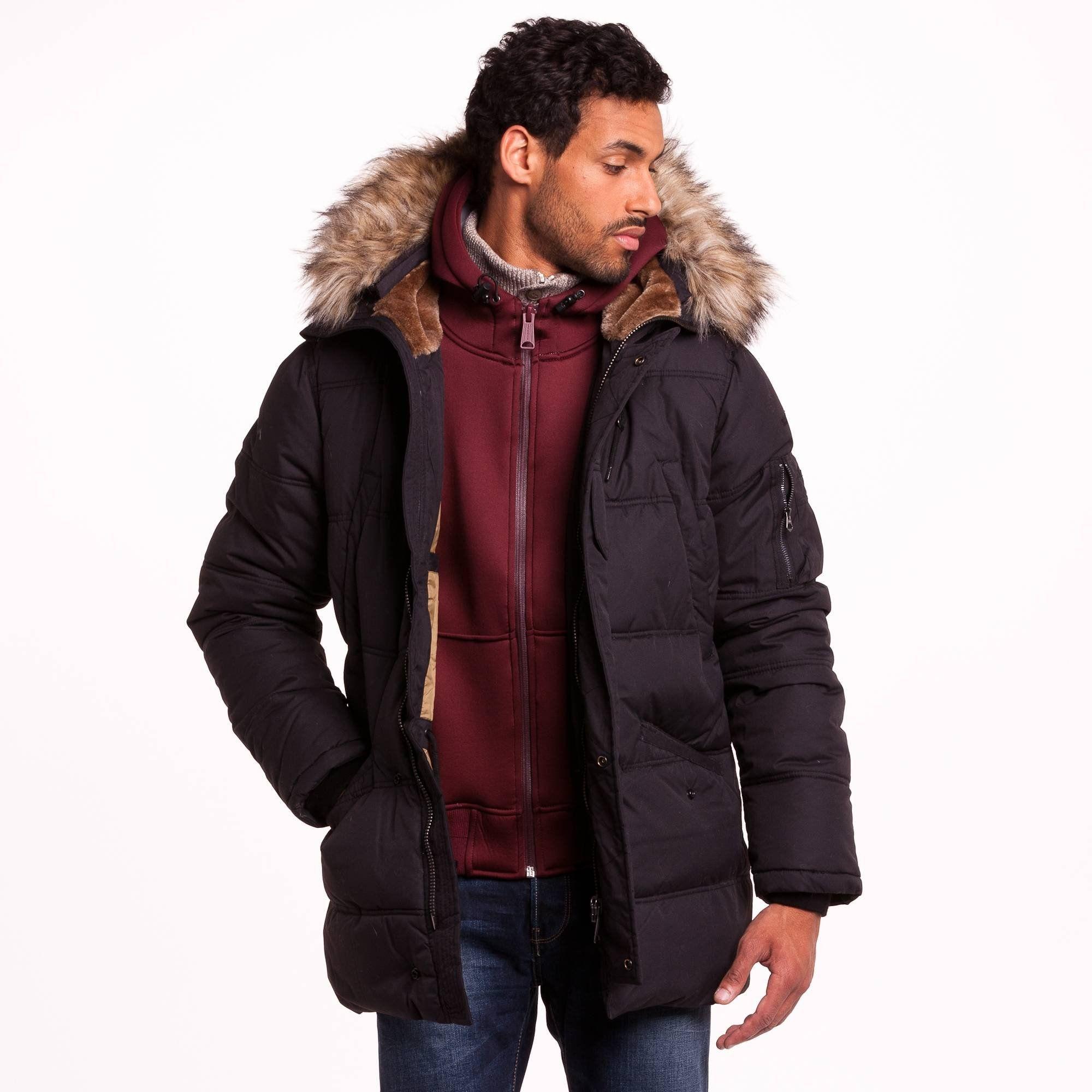 convient aux hommes/femmes grande variété de styles remise spéciale Doudoune à capuche zippée multipoches Snork Schott | 3 ...