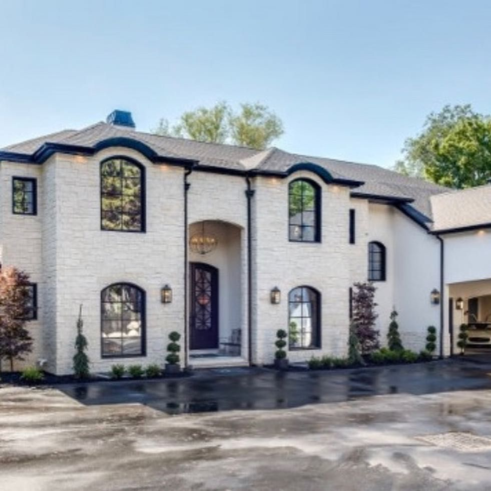 Eclectic Detailing Throughout This Modern French Chateau Swipe Left To Tour By French Chateau Homes French Country Houses Exterior French Chateau Interiors