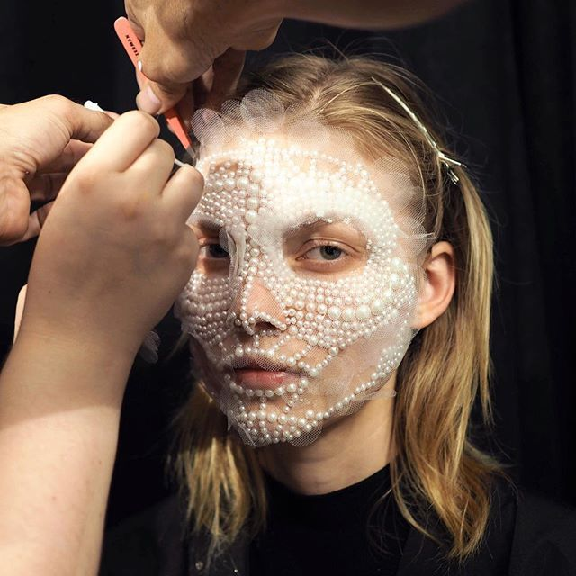 """Behind the scenes look at GIVENCHY SS16 #NYFW @riccardotisci17 #makeupbypatmcgrath"" Photo taken by @patmcgrathreal on Instagram, pinned via the InstaPin iOS"