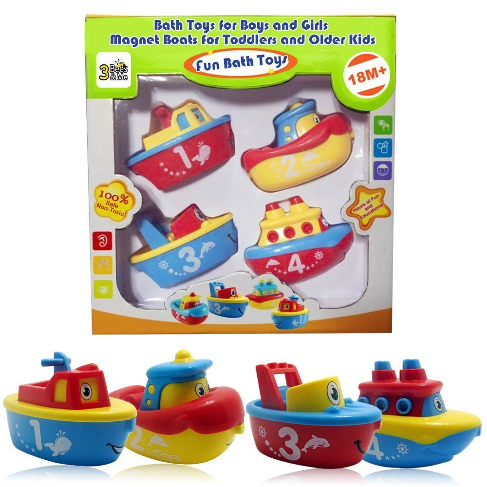 Amazon  Bees u Me Bath Toys for Boys and Girls  Magnet Boats