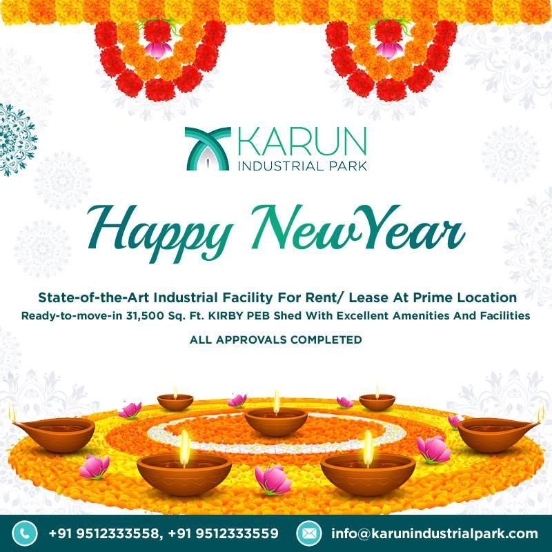 Karun Industrial Park Wishes you a Very Happy And prosperous New ...