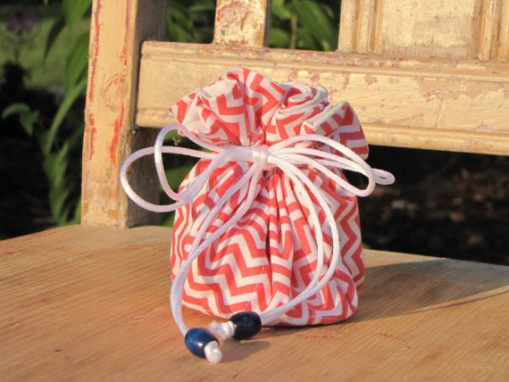Drawsting Jewelry Bag by GirlRestored on Etsy