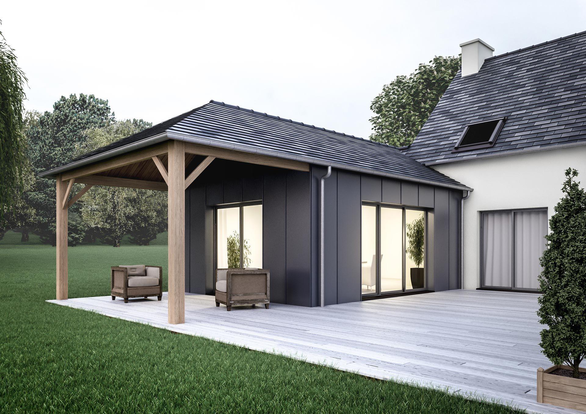 Devis Extension Maison à Neuilly-sur-Seine → Agrandissement Bois, Acier, Parpaing