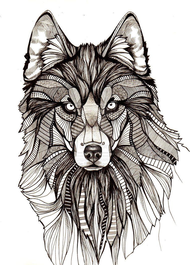 Line Art Wolf Tattoo: Wolf Drawings - Buscar Con Google
