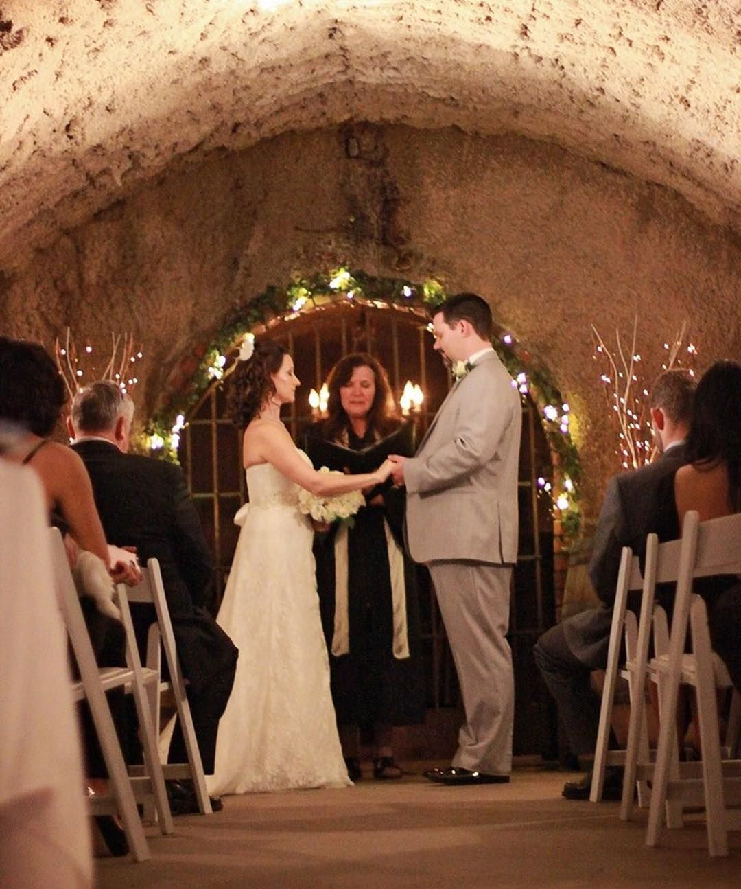 An Intimate Wedding Ceremony Inside The Barrel Room At