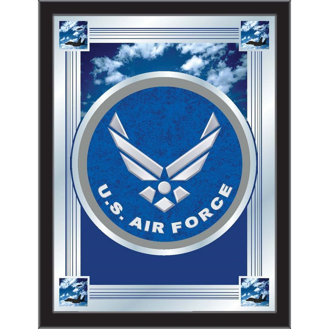 Holland bar stool company military logo mirrors air force logo start tab description the perfect way to show your us air force pride our logo mirror displays the us air force symbols with a style that fits any buycottarizona