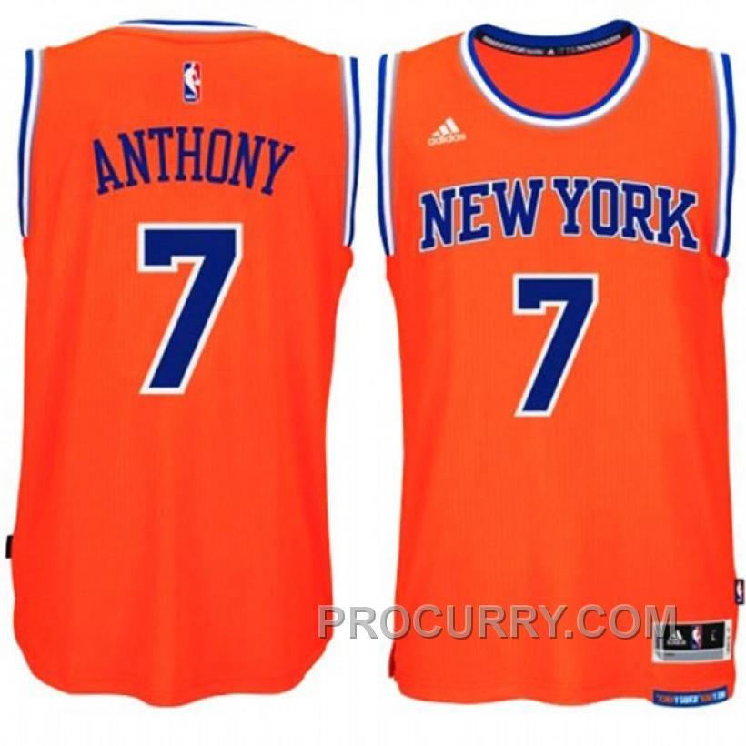 7c7a2712e9c Carmelo Anthony New York Knicks  7 2014-15 New Swingman Alternate Orange  Jersey