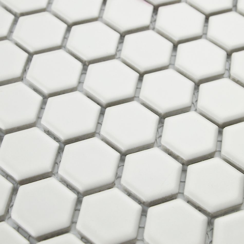 Classic white color hexagon ceramic mosaic tiles kitchen classic white color hexagon ceramic mosaic tiles kitchen backsplash wall bathroom wall and floor tiles fireplace doublecrazyfo Choice Image