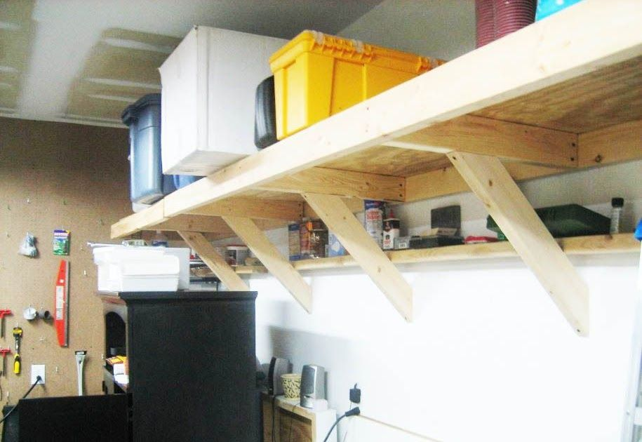 Garage Shelving Ideas Storage Ceiling, How To Build Wall Mounted Shelves In Garage