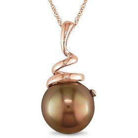 10k Pink Gold Chocolate Pearl Necklace.  List Price: $269.99  Sale Price: $130.99  Savings: $139.00