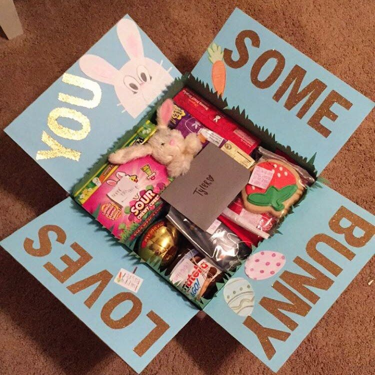 Whats In My Boyfriends Easter College Care Package Hallie