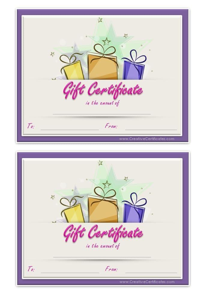 birthday gift certificate template - Birthday Gift Certificate Template Word