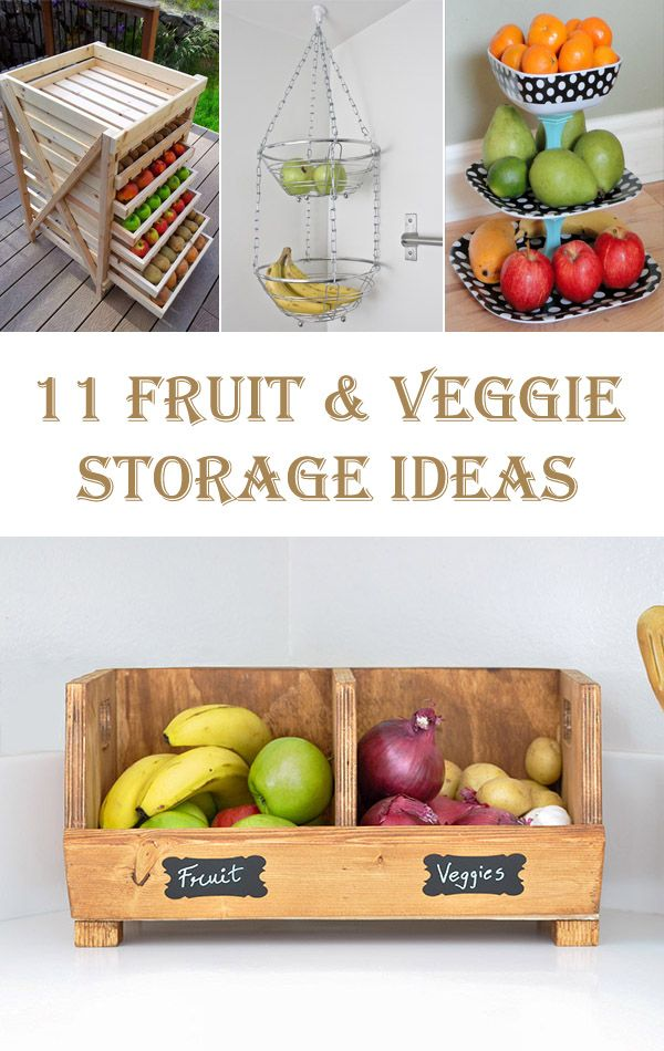 Etonnant 11 Useful DIY Fruit And Veggie Storage Ideas